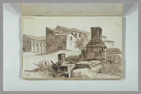 Vue de Rome, près de la bouche de la Vérité