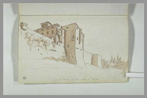 Vue des murs de Rome, près de la porte Saint-Laurent