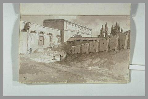 Vue des murs de Rome