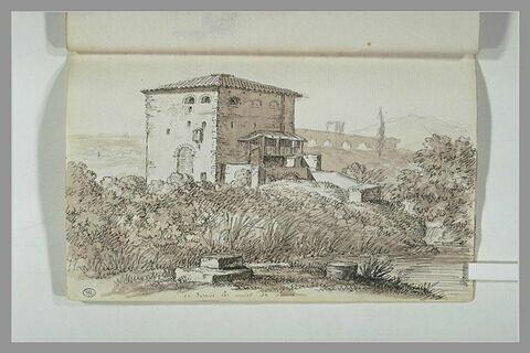 Paysage, vu des murs de Rome