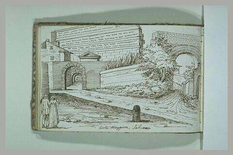 Vue de la porte Maggiore et de la via Labicana