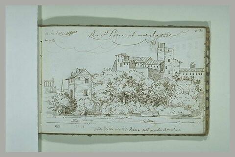 Vue de la rue Saint-Prisco sur le mont Aventin