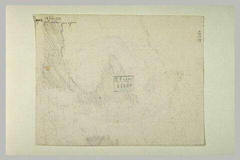 Note manuscrite et esquisse de paysage