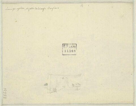 Note manuscrite et petit croquis