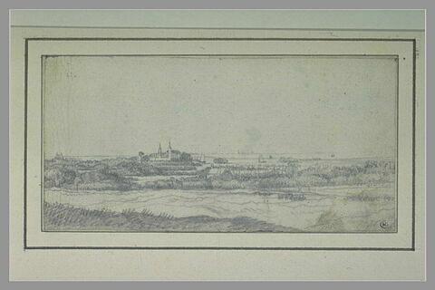 Vue du château de Heemstede, avec au loin le Haarlemmermeer