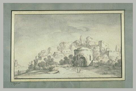 Vue de Saint-Théodore au pied du Palatin, à Rome