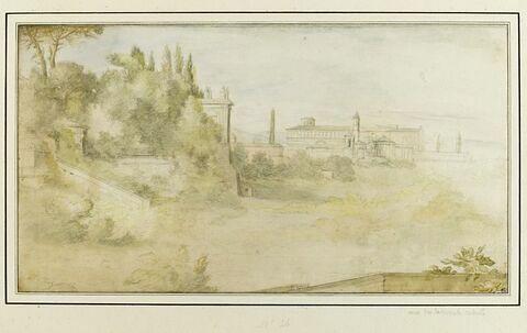 Vue de Rome avec la basilique Saint-Jean-de-Latran