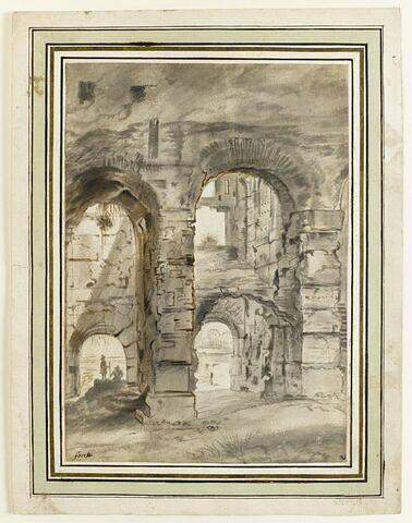 Personnages dans les ruines du Coliée