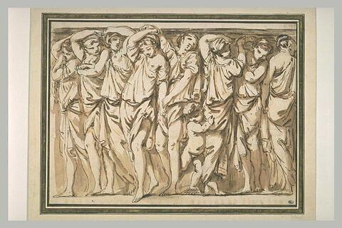 Danseuses en costume antique, en frise