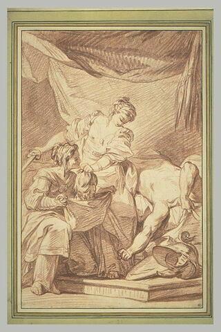 Judith mettant la tête d'Holopherne dans le sac tenu par sa servante