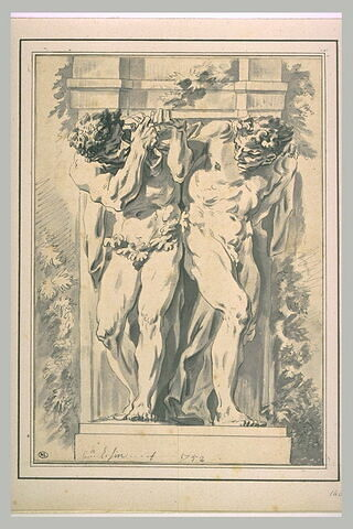 Deux atlantes supportant une corniche