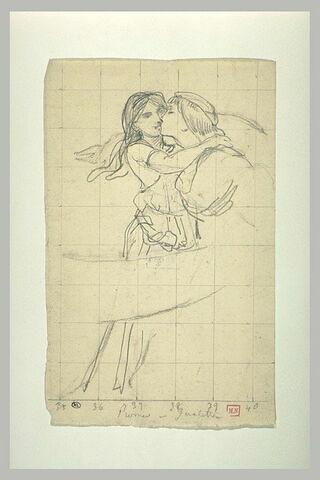 Jeune homme baisant une jeune fille sur la bouche : Roméo et Juliette