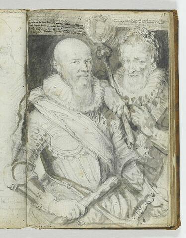 Portraits de Henri IV et de Sully