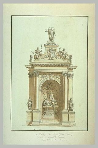 Tombeau du maréchal de Bouillon, à l'abbaye de Cluny