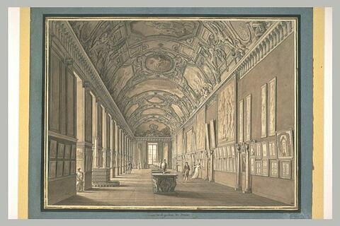 Galerie d'Apollon au Louvre avec l'exposition des dessins
