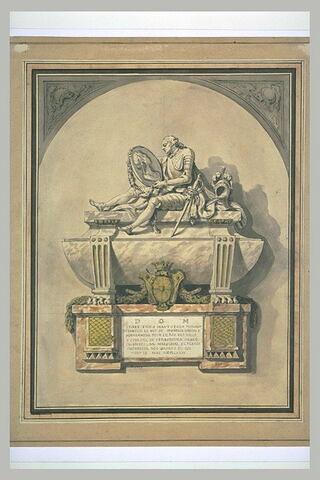 Projet de tombeau pour un maréchal de France