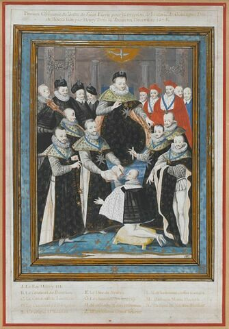 La réception de Ludovic de Gonzague dans l'ordre du Saint-Esprit