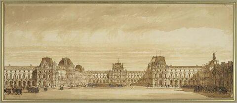Vue de la cour du nouveau Louvre de Napoléon III
