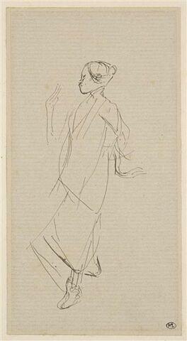 Annamite, esquissant un pas de danse