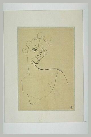 Yvette Guilbert, le visage se retournant un peu vers la droite
