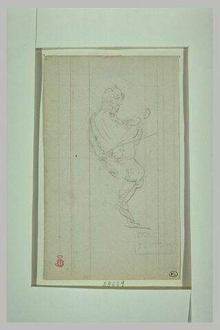 Deux études du Prince Impérial tenant son violon