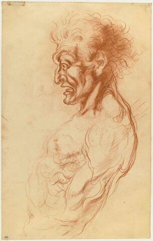Etude d'un homme, en buste, vu de profil