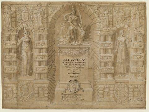Frontispice pour le second livre de l'Histoire de la Reine Arthémise