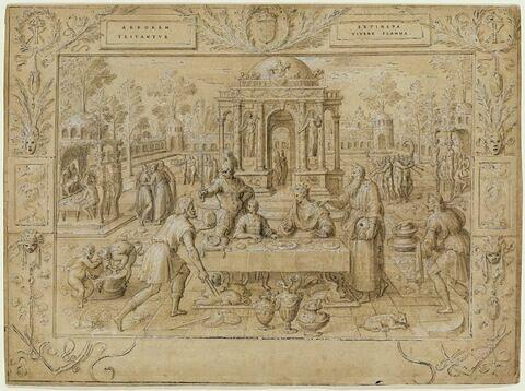 Le festin : Artémise à table avec son fils