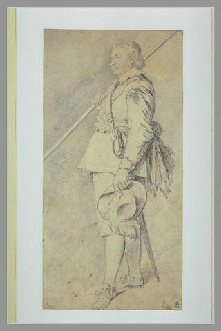 Portrait d'homme portant une hallebarde sur l'épaule droite