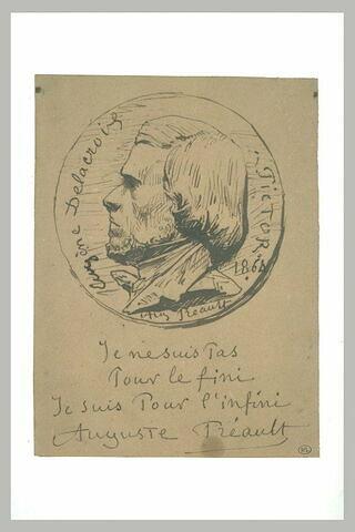 Médaillon d'Eugène Delacroix