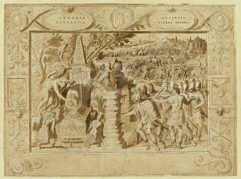 Triomphe de Mausole : la mise au tombeau provisoire