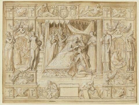 Mort de François Ier : le roi bénit son fils Henri II