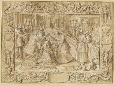 Couronnement de Catherine de Médicis dans la basilique Saint-Denis