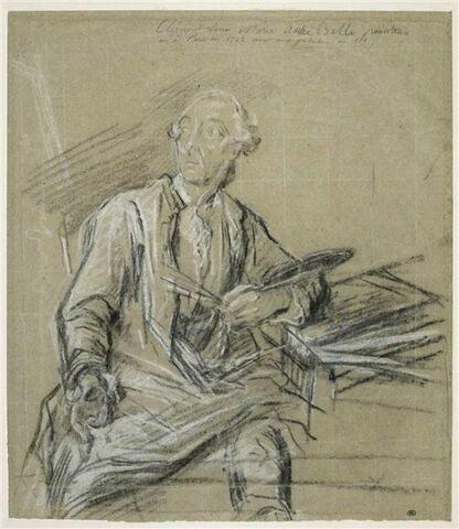 Etude pour le portrait de Clément Louis Marie Anne Belle (1722-1806).
