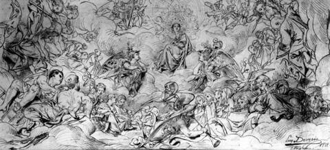 Vierge en Gloire, au milieu des choeurs célestes