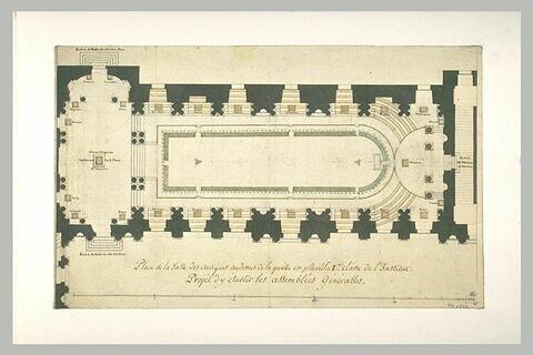 Plan de la salle des Antiques