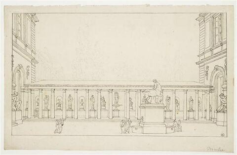 Perspective de la cour d'entrée du Museum National des Arts