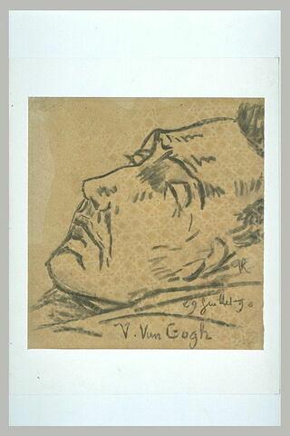 Vincent van Gogh sur son lit de mort