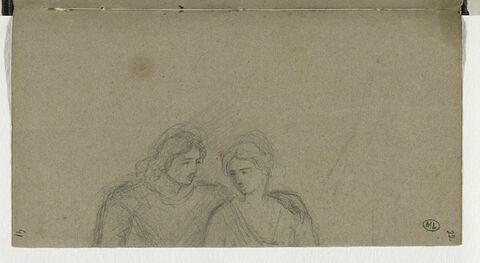 Fragment de deux personnages