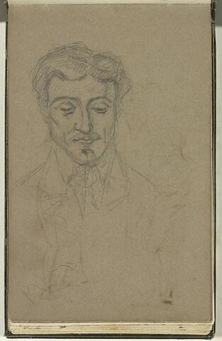 Portrait d'un homme, vu de face