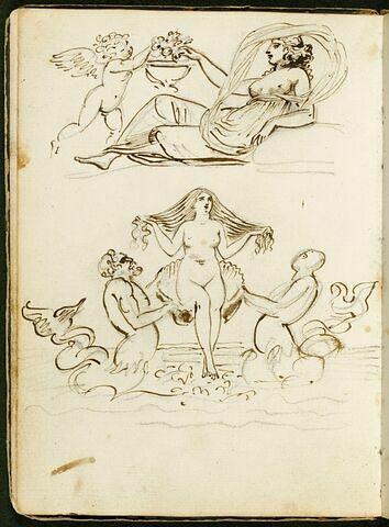 Deux compositions avec des personnages à l'antique