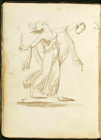 Ménade dansant, une épée dans la main droite, une tête d'homme coupée dans la main gauche