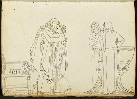 Composition avec quatre personnages à l'antique