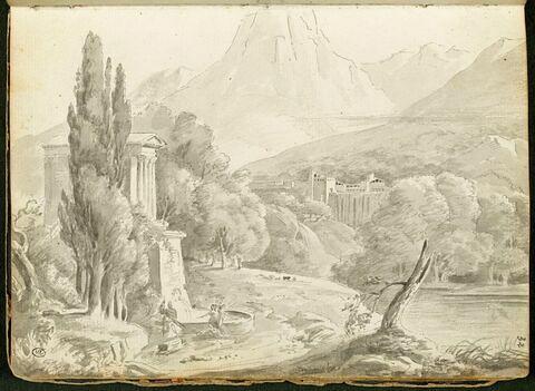Vue du temple de Campello sul Clitunno