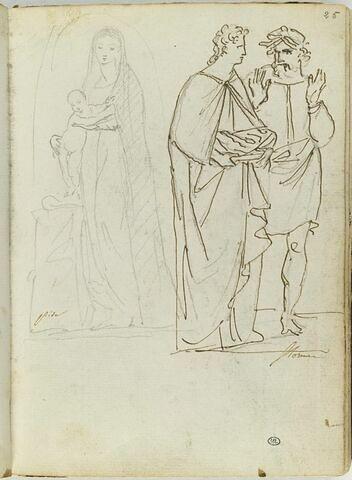 Vierge à l'Enfant ; groupe de deux personnages