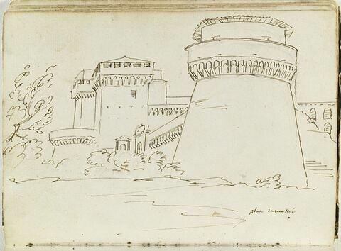 Vue de l'abbaye de Grottaferrata, près de Rome