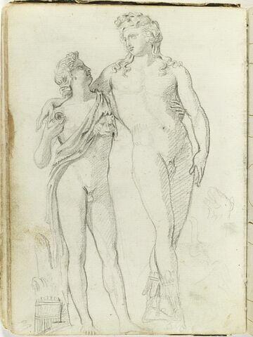Bacchus et satyre