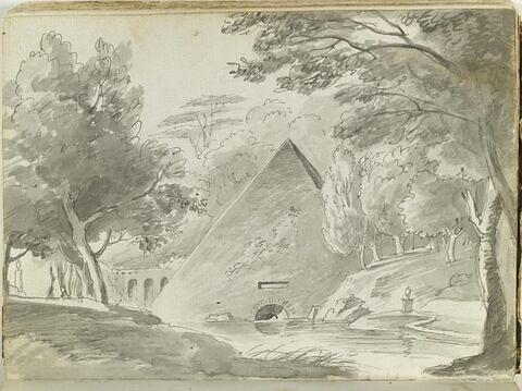 Pyramide dans un paysage