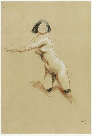 Femme nue, en bas noirs