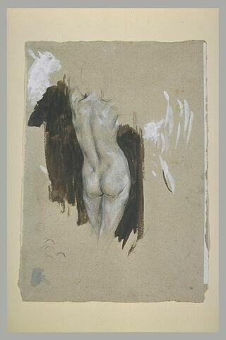 Etude de femme nue, de dos